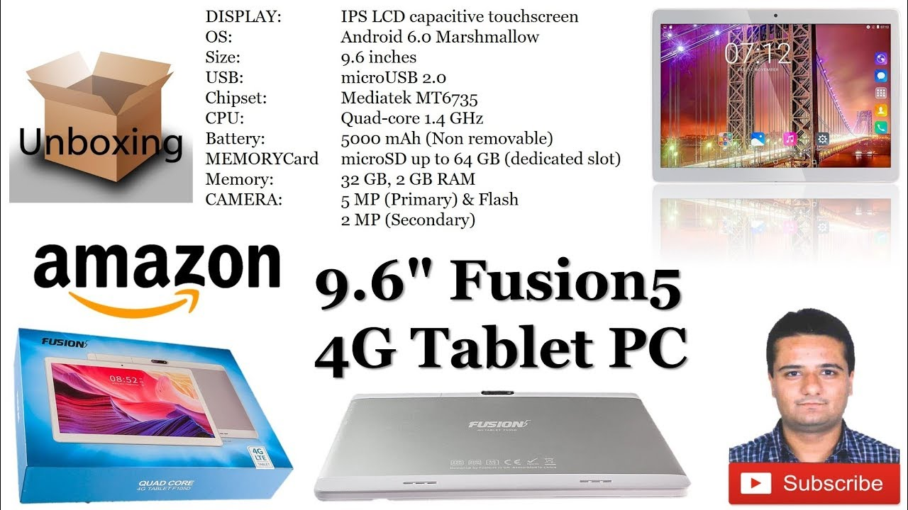 Fusion5 4g calling Tablet PC Unboxing Review | Fusion 5 4g tablet 2 gb ram | 9.6 Amazon