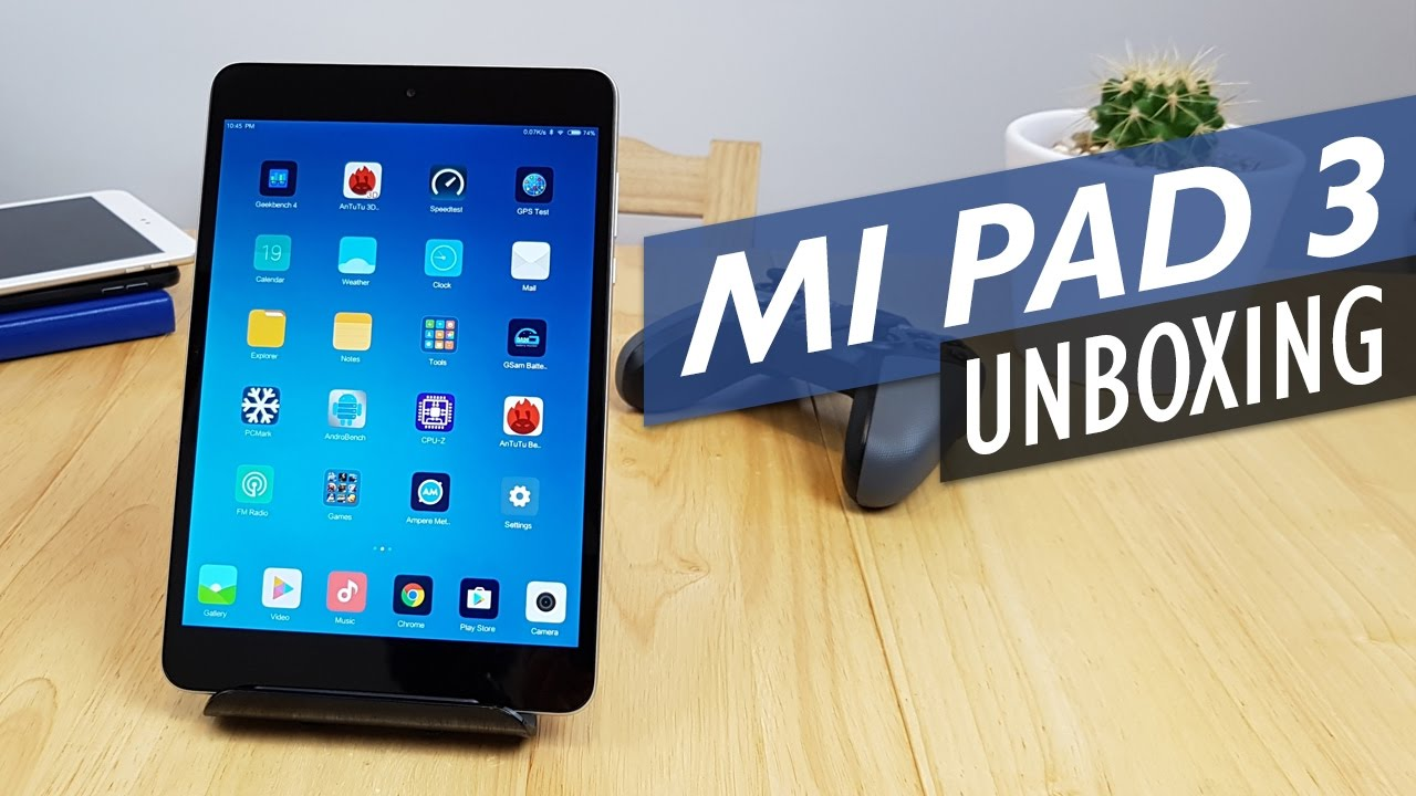 Xiaomi Mi Pad 3 Unboxing & Hands-On Review (English)
