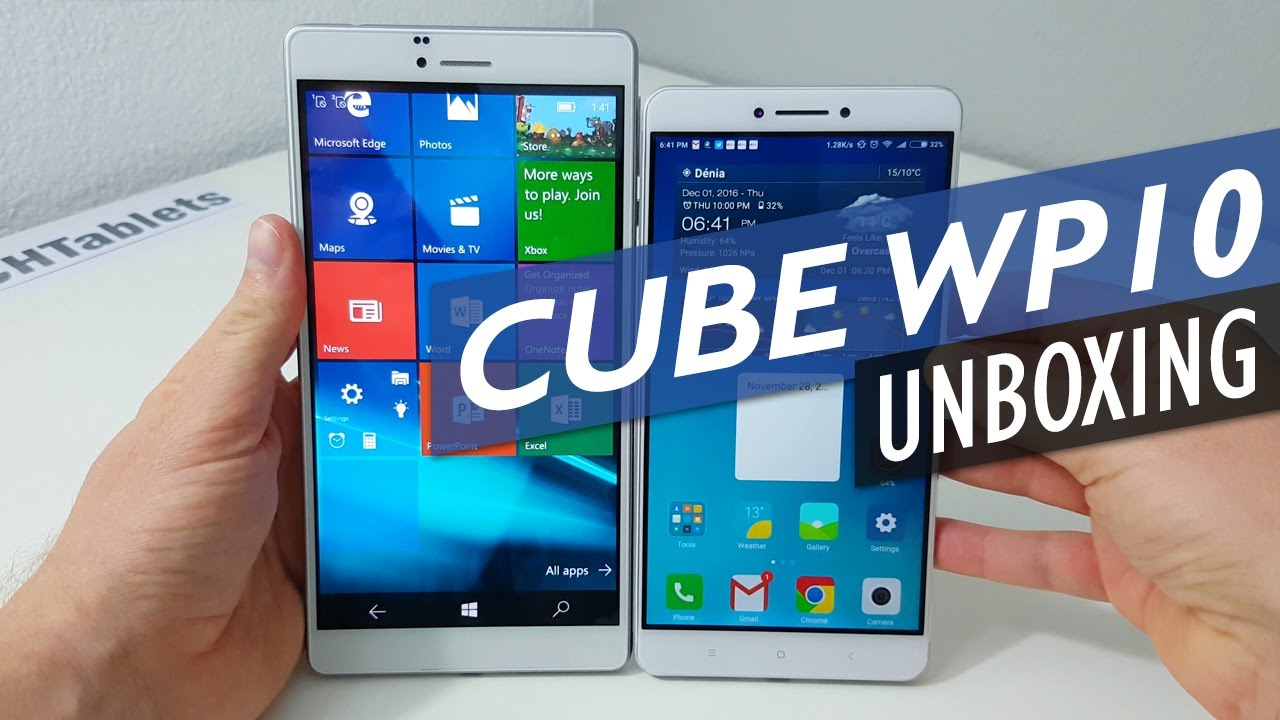 Cube WP10 Unboxing And First Look – 6.98″ $120 Windows 10 Mobile