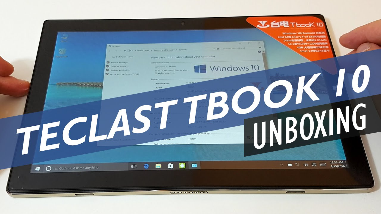 Teclast Tbook 10 Unboxing and First Look