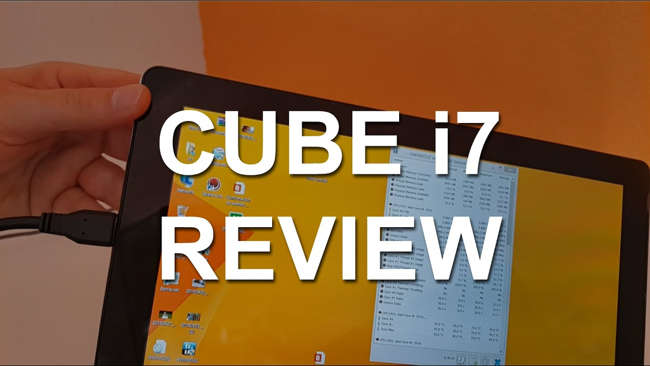 Cube i7 Review – Core M 5Y10 2 in 1 Tablet
