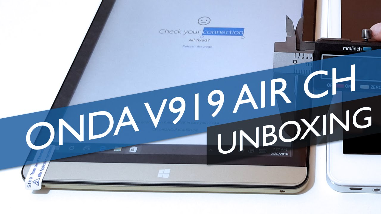 Onda v919 Air CH Unboxing & Hands On