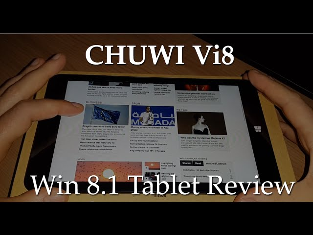 Chuwi Vi8 Review – Performance and Gaming [English] TechTablets.com