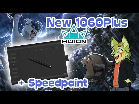 Huion New 1060 Plus Graphics Tablet Unboxing/Review + Shattered Sky Speedpaint