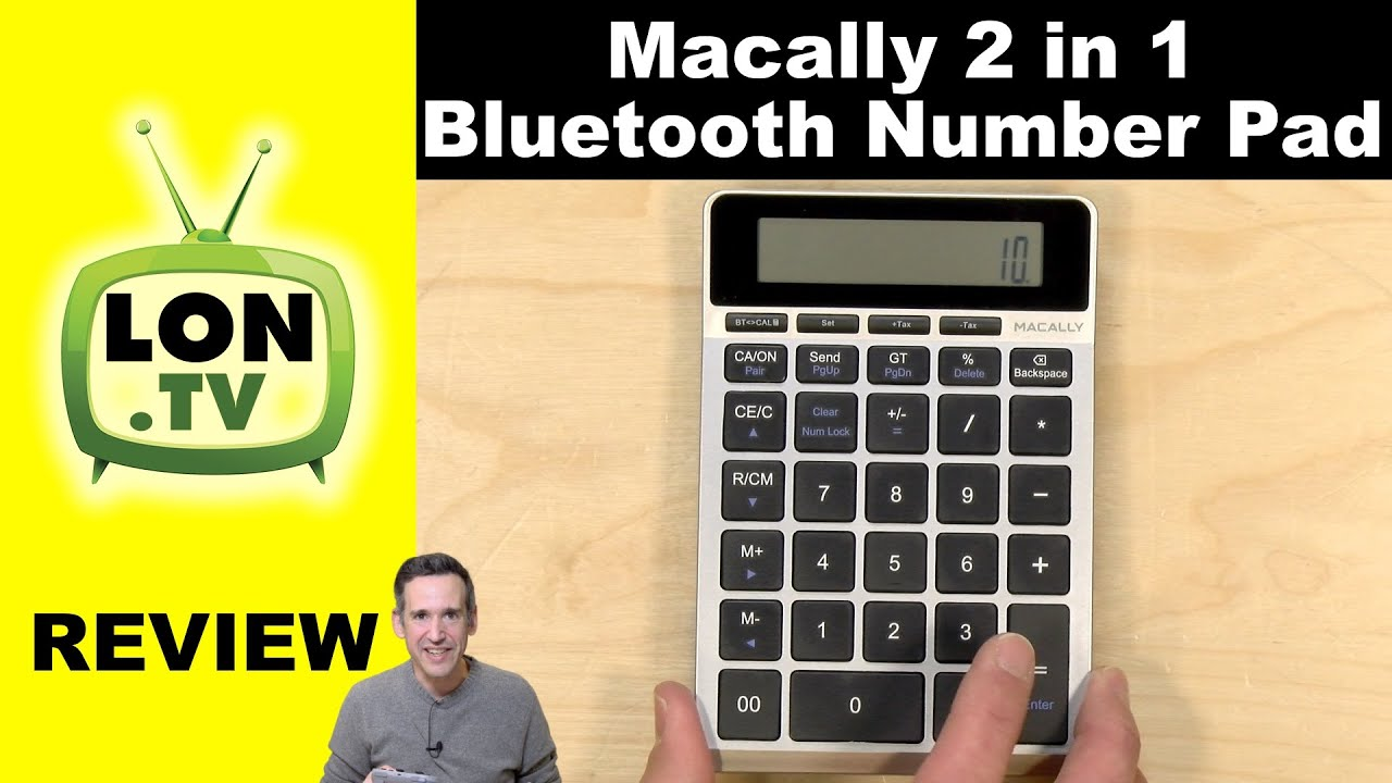 Macally 2 in 1 Bluetooth Number Pad with Accounting Calculator