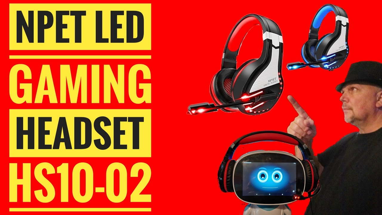 NPET HS10 02 LED Gaming Headset Stereo Sound and noise Isolating Microphone for PC XBOX One PS4