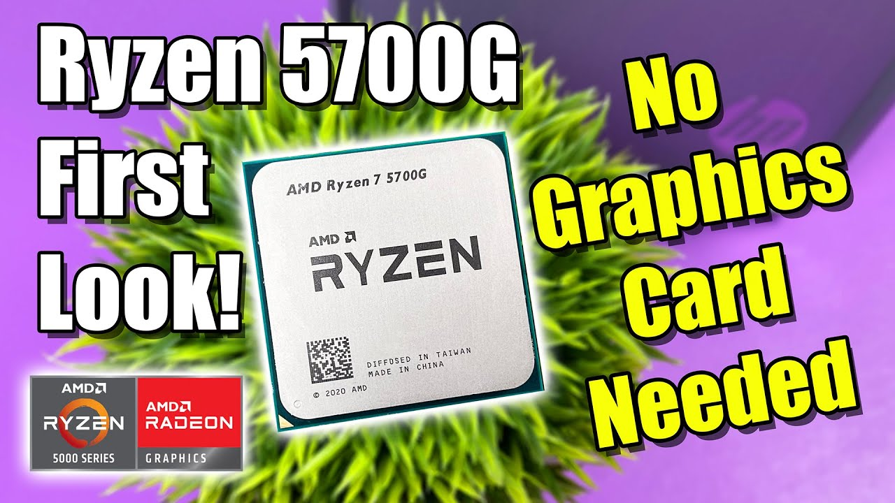 The RYZEN 7 5700G Is A BEAST! No Graphics Card Needed!?