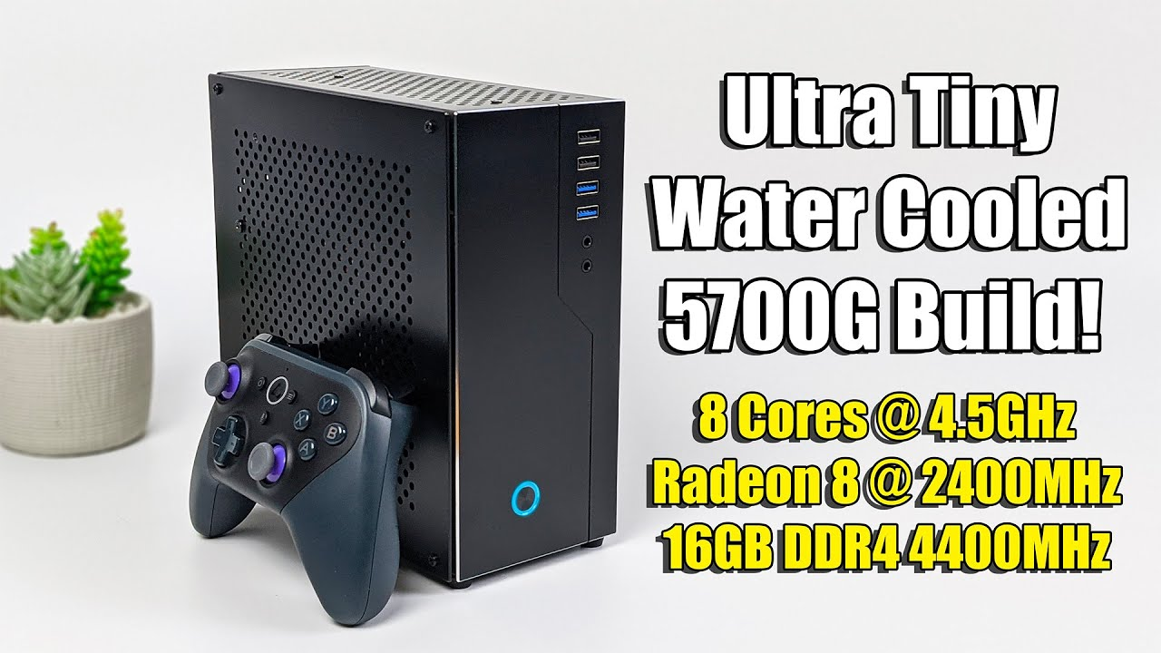Ultra Small Water Cooled Ryzen 7 5700G Gaming PC Build!