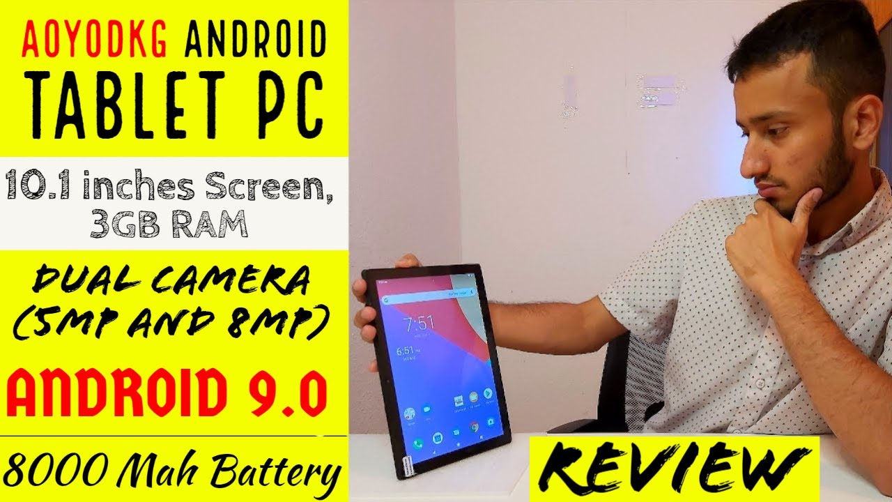 AOYODKG Android Tablet PC   Unboxing and Review 2021    Review Therapy